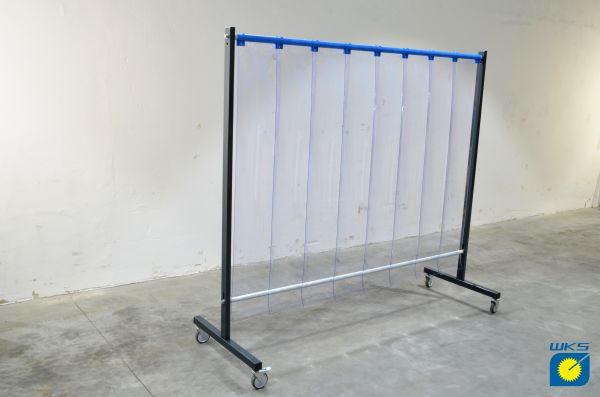 SST5 Schutzwand 2 x 2,15 m, PVC-Lamellen 300 x 2 x 1600 mm, klar