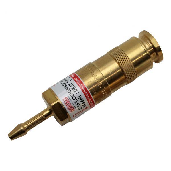 Sicherheitseinrichtung brennerseitig, D-Serie (EN 561), Brenngase, Tülle 4 mm