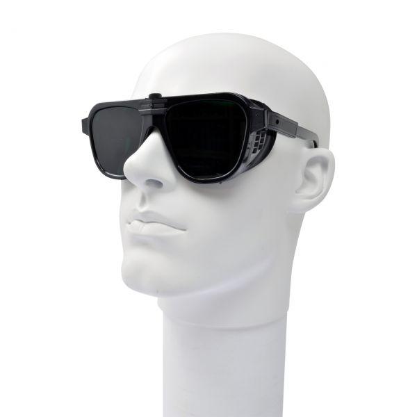 Schutzbrille mit verstellbaren Bügeln, Formgläser 62 x 52 mm