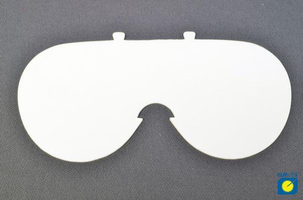 Ersatzscheibe für Vollsichtbrille, einteilig, klar