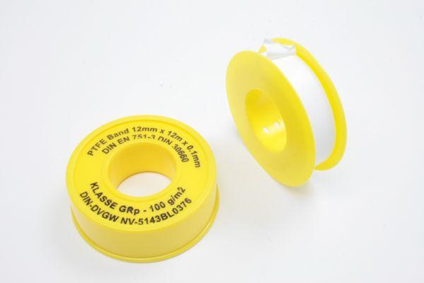 PTFE Dichtungsband für Grobgewinde, 12 x 0,1 mm