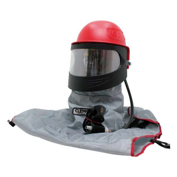 Sandstrahlhaube APOLLO 600, Helm, Cape, Helmschlauch und Regulierventil