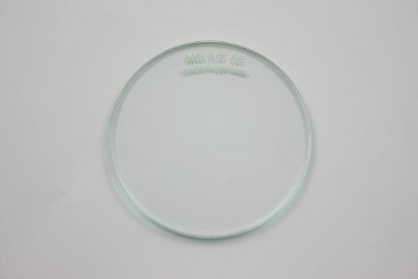 Brillengläser, PET-G Kunststoffglas, klar, Ø 50 x 1 mm