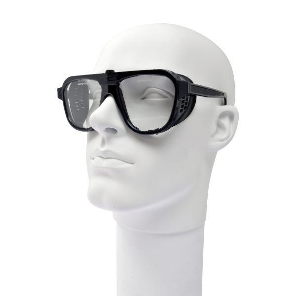 Nylonschutzbrille, schwarz, Formgläser 62 x 52 mm, klar, CA Kunststoff