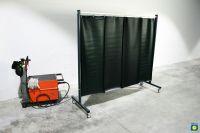 SST7 Schutzwand 2,0 x 2,15 m, mit PVC-Lamellen 570 x 1 x 1600 mm, grün R9