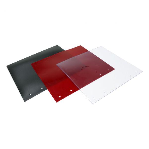 Lamellen, 300 x 2 mm, rot R4, mit Lochung
