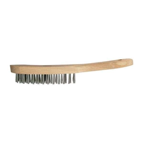 Stahldrahtbürste mit Holzgriff