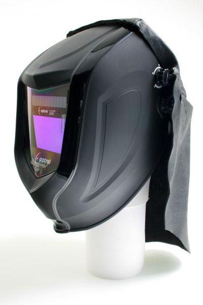Kopf-/Nackenschutz aus Leder mit Klett passend für optrel® p-Serie