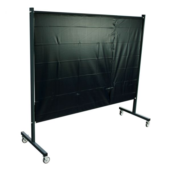 SST1 Schutzwand, 2,0 x 2,15 m (H x B), fahrbar, PVC-Spannvorhang, grün, R9