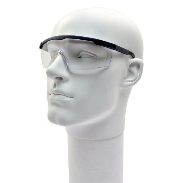 Schutzbrille FUN-KLAR mit klaren DIN P Scheiben, dunkelblau