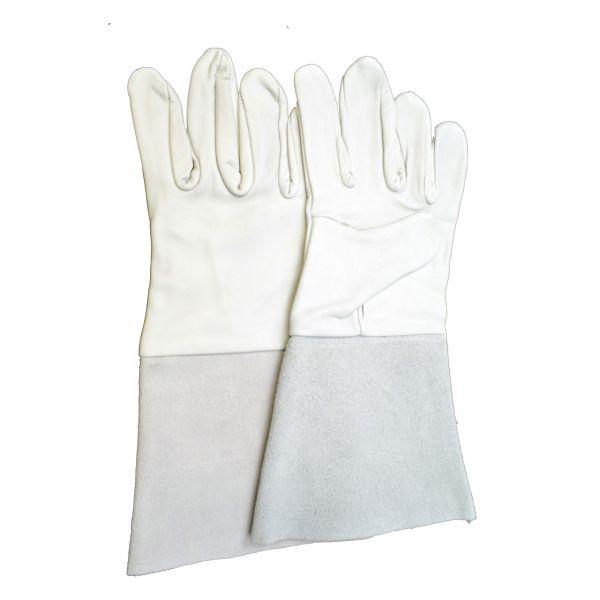 Schutzhandschuhe aus Nappaleder, 5-Finger, Stulpe ca. 35 cm, Größe 10