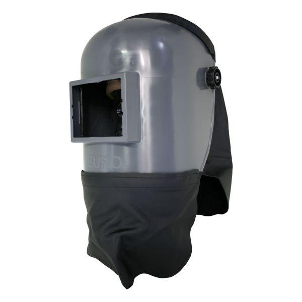 EURO-GF Kopfschirm aus PA/GF, mit Kopfschutz und Brustlatz aus Leder