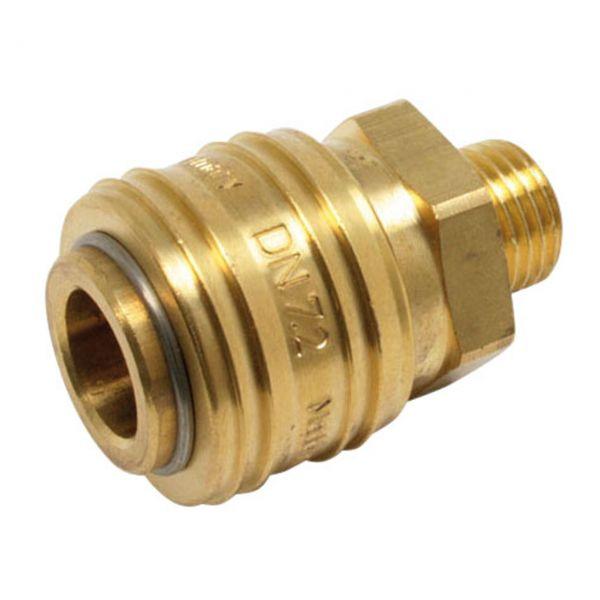 Druckluftkupplung NW 7,2 mm, 1/4'' RH Außengewinde
