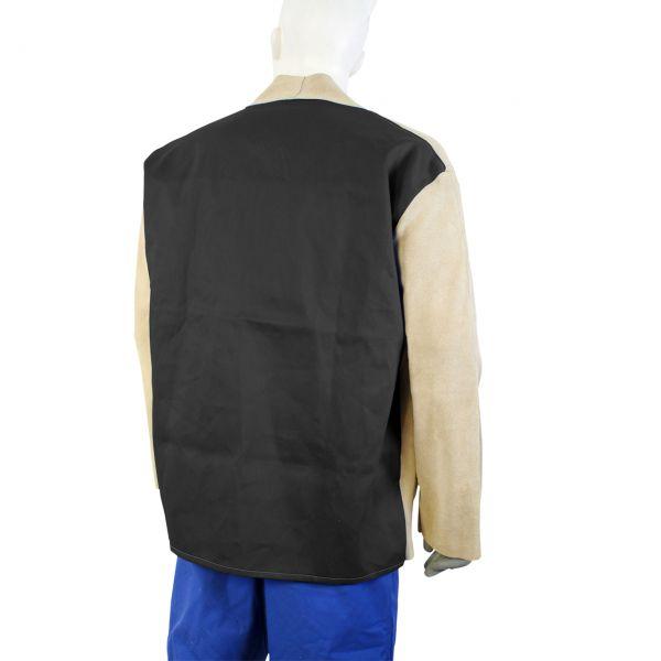 Schweißerjacke, Front Spaltleder braun, Rücken Proban schwarz