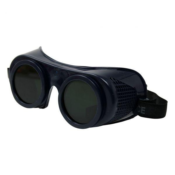 Korbbrille aus Weich-PVC mit PC Scheibe, DIN 5, klar, Ø50 mm