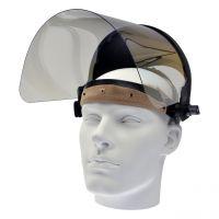 Gesichtsschutz, klar, Kopfhalterung, klappbare PET-G Scheibe 360x200x1mm