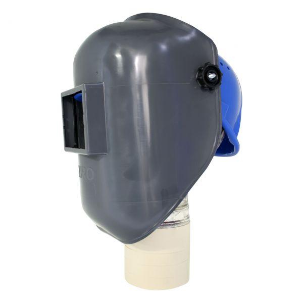 EURO-GF Kopfschirm aus PA/GF, mit blauem Arbeitshelm, ohne Glas