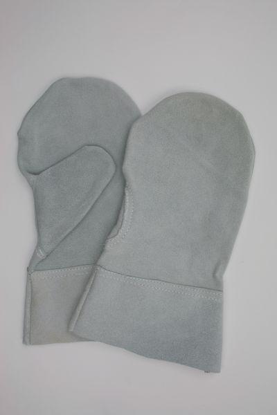 Schutzhandschuh aus Spalt-Leder, Fausthandschuh mit Stulpe ca. 28 cm