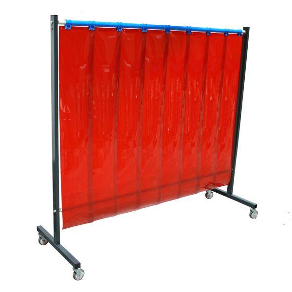 SST5 Schutzwand 2 x 2,15 m, PVC-Lamellen 300 x 2 x 1600 mm, rot R4