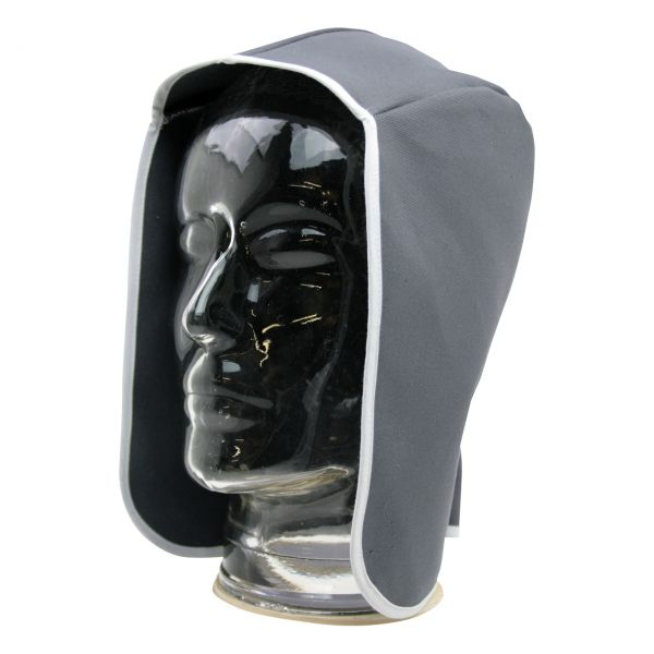 Kopfschutztuch aus SECAN, ohne Nackenschutz, grau, schwer enflammbar