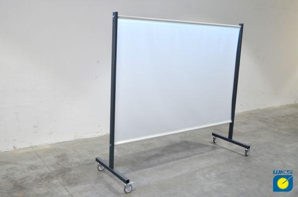 SST2 Schutzwand, 2,0 x 2,15 m (H x B), fahrbar, PVC-Gittergewebe, milchig weiß