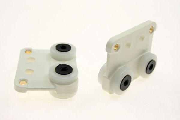Laufrolle 2-fach für Stahlprofil C-45