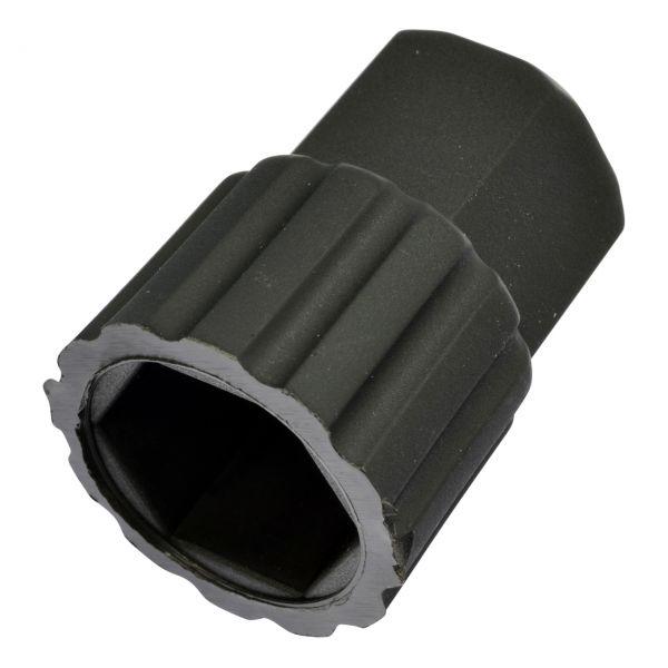 """Isoliermuttergehäuse aus Kunststoff, schwarz, SW 24, für 1/4"""" Mutter (SW 17)"""