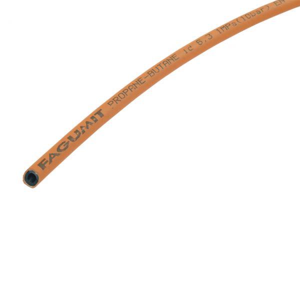 Propangasschlauch, Mitteldruck, Meterware, 6,3 x 3,5 mm, orange