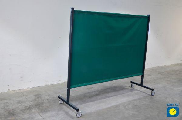 SST2 Schutzwand, 2,0 x 2,15 m (H x B), fahrbar, PVC-Strukturgewebe, grün