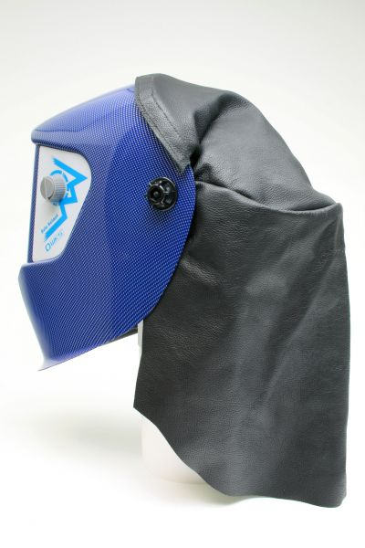 Kopf- und Nackenschutz für AS-2-F/ GF-K4, Leder mit Klettverschluss