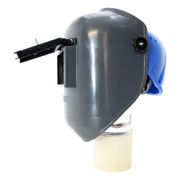 EURO-GF Kopfschirm aus PA/GF, mit Klapprahmen, blauer Arbeitshelm ohne Glas