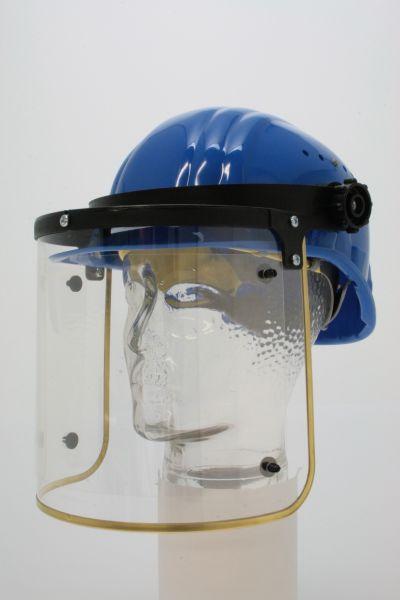 Klappvisier mit PET-G Scheibe mit Messingrahmen, 5 Ersatzfolie, ohne Helm, klar
