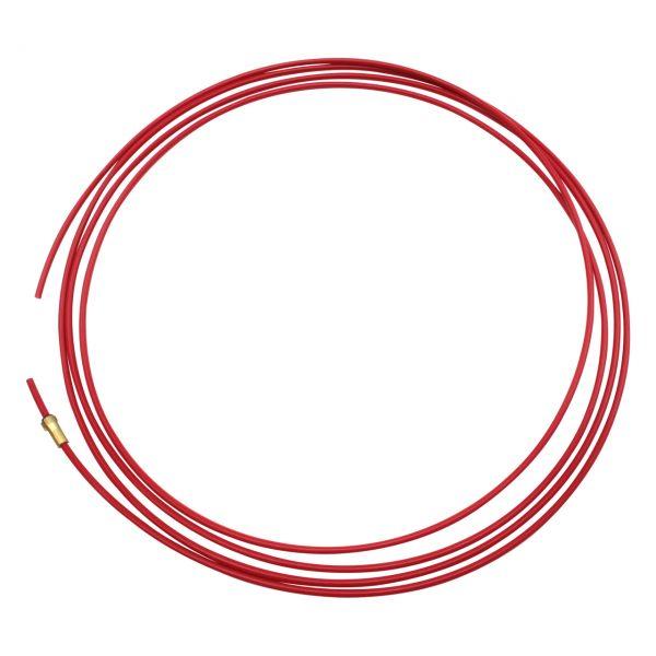 Teflonseele, rot, Ø 1,0 - 1,2 mm, Außen-Ø 4,0 mm, Innen-Ø 2,0 mm