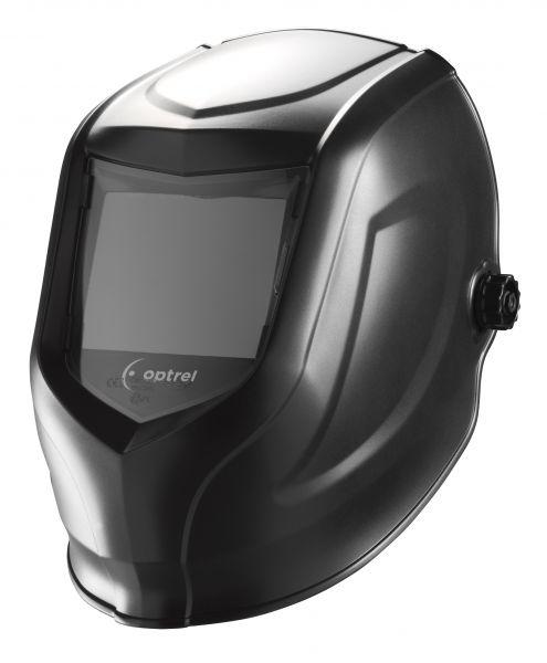 optrel® p505 mit Passivfilter DIN 11, Sichtfeld 90 x 110 mm, schwarz unlackiert