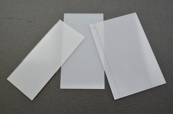 PET-G Vorsatzscheibe, Zuschnitt bis 0,05 m²/Scheibe