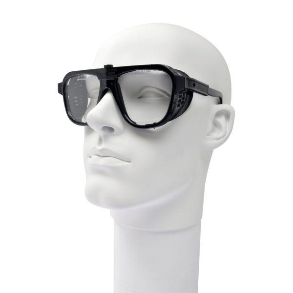 Schutzbrille mit verstellbaren Bügeln, Formgläser 62 x 52 mm, klar, splitterfrei