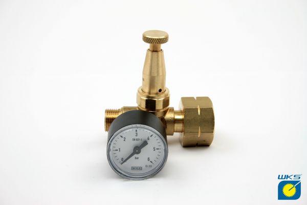"""Druckregler für Flaschenanschluss bis 33 kg, G3/8"""" LH, 0,5 - 4 bar"""
