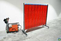 SST5 Schutzwand 2 x 2,15 m, PVC-Lamellen 300 x 2 x 1600 mm, grün R9
