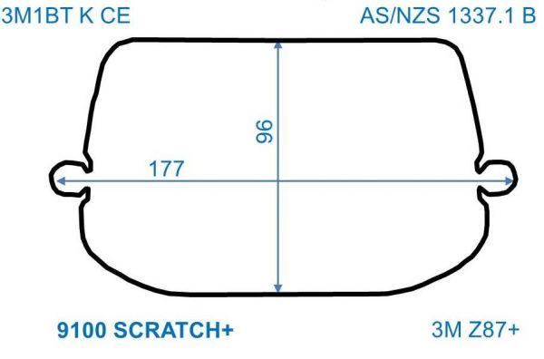 Äußere Scheiben SPEEDGLAS 9100/ G5-01, kratzfest, 10er Pack