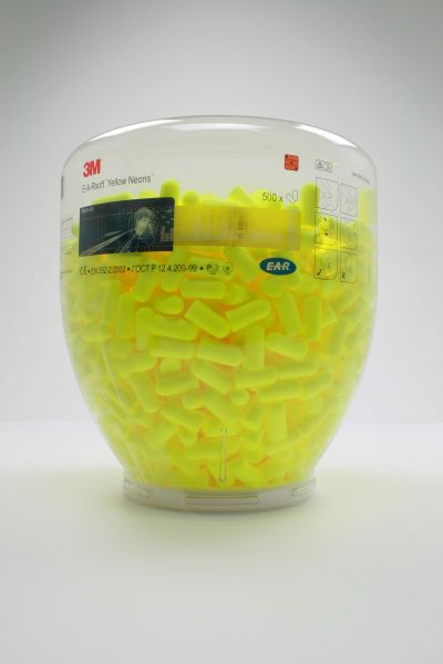 3M E-A-R Soft Gehörschutzstöpsel, gelb/neon, Refill-Aufsatz