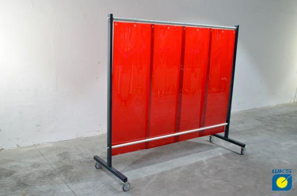 SST7 Schutzwand 2,0 x 2,15 m, mit PVC-Lamellen 570 x 1 x 1600 mm, rot R4