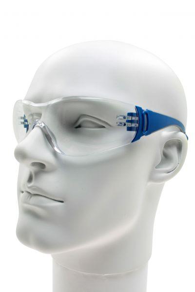 Schutzbrille W2, Polycarbonat klar, Bügel flexibel und gummiert