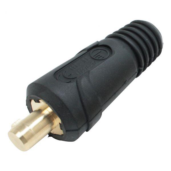 Schweißkabelkupplung, Steckerteil 25 mm², Dorn 9 mm, 200 A