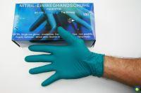 Einweghandschuh Nitril, Top Qualität, blau, ungepudert, Gr. M, 100 St./Pk.