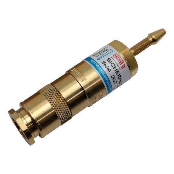 Sicherheitseinrichtung brennerseitig, D-Serie (EN 561), Sauerstoff, Tülle 4 mm