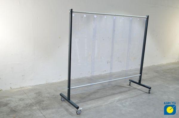 SST7 Schutzwand 2,0 x 2,15 m, mit PVC-Lamellen 570 x 1 x 1600 mm, klar
