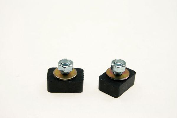 Schienenstopper aus Gummimetall (Stahlprofil C-45)