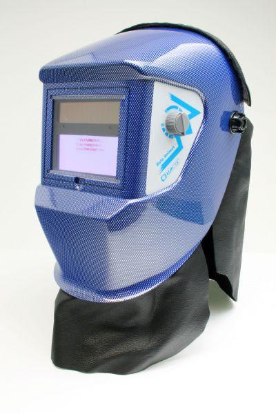 Brustlatz für Kopfschirm AS-2-F /optrel® p-Serie, Leder mit Klettverschluss