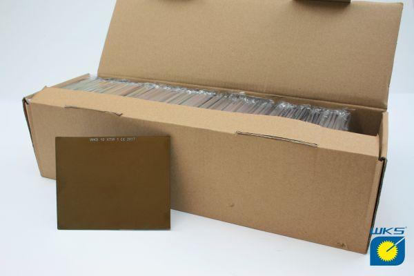 WKS Schutzglas, 90 x 110 mm, goldverspiegelt