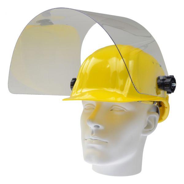 Arbeitshelm mit klappbarer PET-G Scheibe 460 x 240 mm, gelb